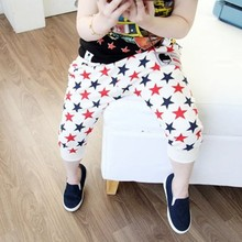 Newest Summer baby Style Toddler Girls Stars Pattern Harem Pants Cotton Trousers Collapse Pants Bottoms