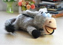Baby Kids Children Electronic Rolling Laughing Donkey Plush Funny Toy(China)