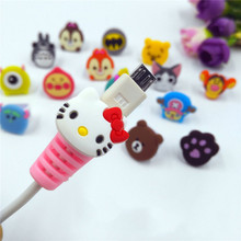 2 PCS Cartoon Cute Usb Cable Protector Cable Case Cover Winder Cord Protector Organizer For iPhone 6s 7 plus Samsung Xiaomi