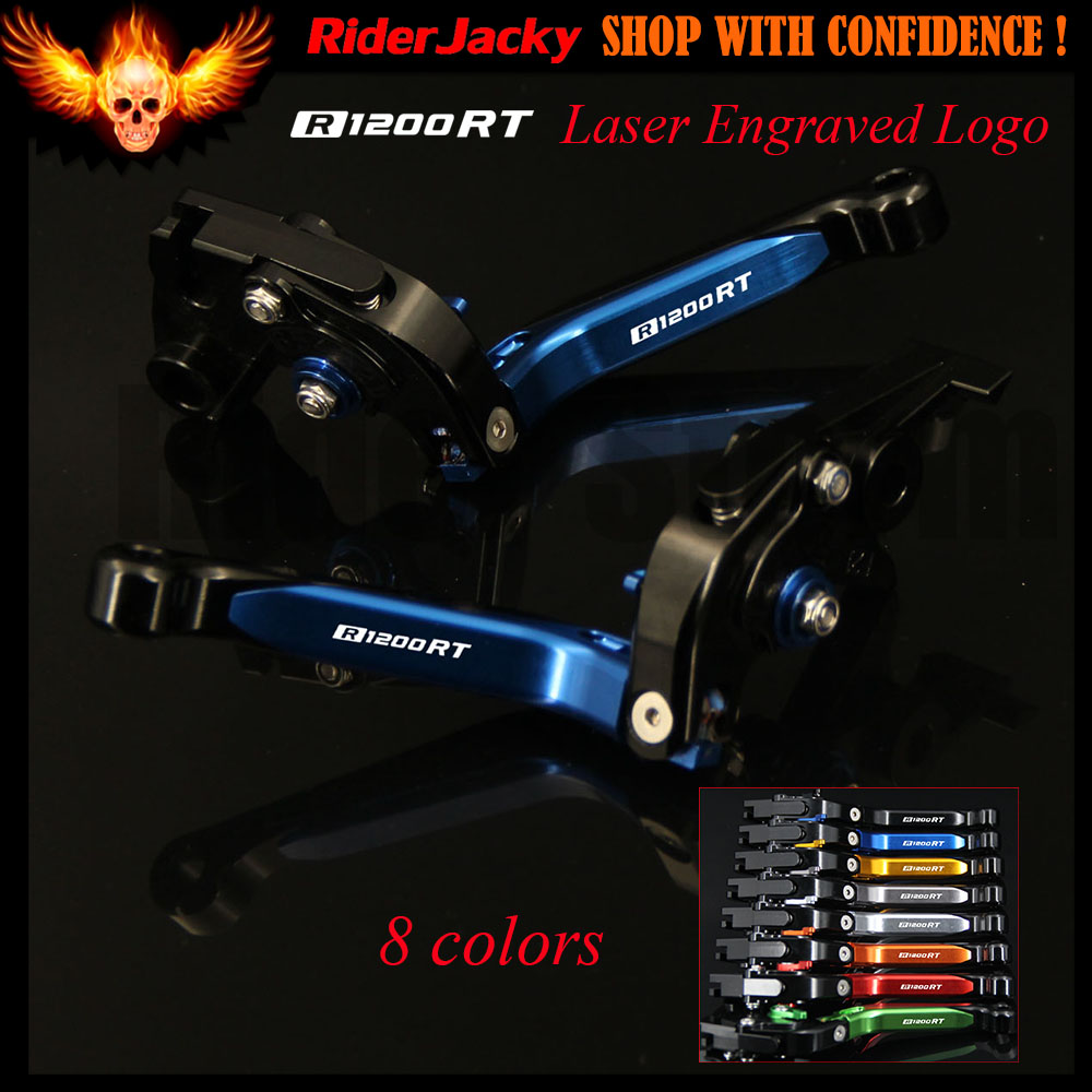 Laser New Logo For BMW R1200RT R1200 RT 2014 2015 2016 2017 Blue+Black CNC Adjustable Folding Motorcycle Brake Clutch Levers <br>