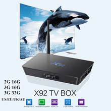 X92 2G/16G 3G/16G Smart Android 6.0 TV Box Amlogic S912 Octa-core 2.4GHz / 5.8GHz WiFi Bluetooth 4.0 4K Media Player(China)