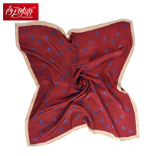Echarpe Foulard Female Polka Dot Bandana Twill Silk Scarf Ladies Neckerchief 60*60CMSquare Scarves Jewelry Plain Chiffon Scarf(China)