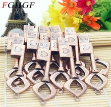 FGHGF Pen Drive Metal Pure Copper Heart Key Gift USB Flash Drive mini USB stick Key Genuine 2gb 4gb 8gb 16gb 32gb Thumb Stick