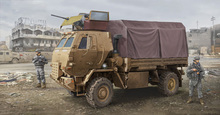 The United States military assembly model 1:35 M1078 Light Tactical truck cab 01009 armor