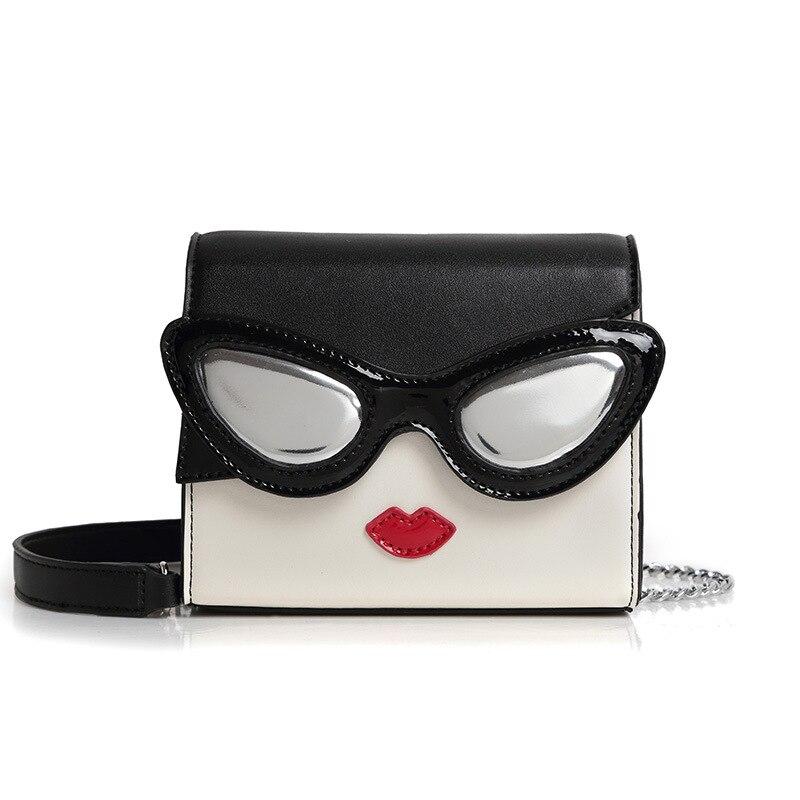 Women Leather Messenger Korean Eye Red Lips Clutch Bag Japan Cute Style Emoji Borse Donna Marche Famose 2017 Brand luxury Bags<br><br>Aliexpress