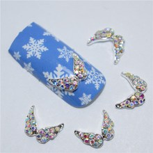 10Pcs new Color glitter butterfly, 3D Metal Alloy Nail Art Decoration/Charms/Studs,Nails 3d Jewelry #143(China)