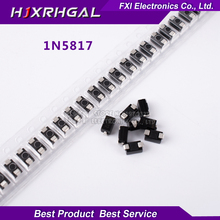 100pcs SMA 1N5817 IN5817 smd 1A 20V do-214ac Schottky diode ss12 New original free shipping(China)