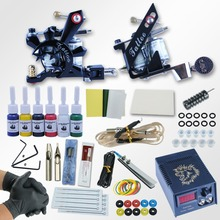 Professional Tattoo Kit 6 Immortal Colors Tattoo Ink Sets Power Supply Tattoo Machine 2 Guns Needles Permanent Make Up