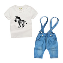 Zebra Whale kids clothes Summer 2017 Toddler Boys Clothing Sets Children Costume Cute Animals 2 piece Set t shirt+shorts TS02