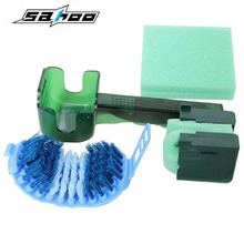 2017 New Ciclismo Cadena Bicicleta Cycling Motorcycle Bicycle Chain Crankset Brush Cleaner Cleaning Tool Bike Clean Accessory(China)