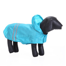 Pet Dog PU Raincoat Reflective Clothes Hoodie Jumpsuit Dog Clothes Raincoat For Small Dogs Two Legs Raincoats Girl Boy Supplies