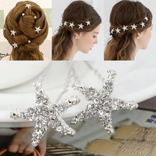 20Pcs Wedding Bridal Bridesmaid Crystal Sea Star Rhinestone Hair Pins Clips Women Hairpins Hair Accessories