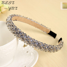 Shining Crystal Fashional Modern Style Headband Hairbands for Girls Headwear Hair Accessories for Women(China)