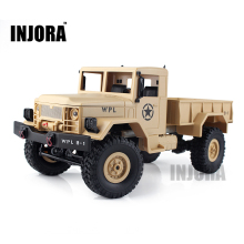 INJORA New 1:16 Scale RC Rock Crawler Off-Road 4WD Military Truck RTR Remote Control Car Toy for Children(China)