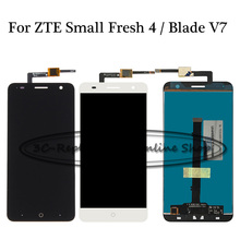 Black/White LCD+TP For ZTE Small Fresh 4 Blade V7 LTE LCD Display + Touch Screen Digitizer Assembly Smartphone Replacement(China)
