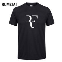 Summer Fashion Letter Printed T shirt 2017 Men's Roger Federer Fitness T-shirt Homme Streetwear Hip Hop cotton Tops Tee camiseta