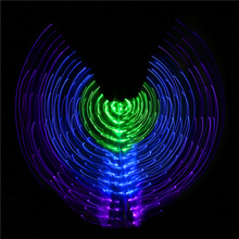 2017 Performance Prop Women Dancewear Girls DJ LED Wings Light Up Wing Costume for Belly Dance