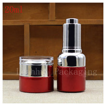 Wholesale 20ml High Quality Red Dropper Essence oil Bottle,Essence Lotion Packing Bottle,Empty Cosmetics Packaging Container