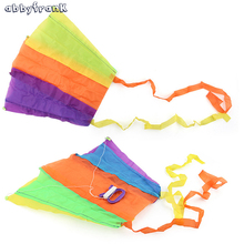 Abbyfrank Flying Kite Mini Folded Software Power Kite With Handle Line Easy Flying Cloth Portable Outdoor Game Toy For Children(China)