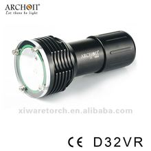 100% Original ARCHON D32VR W38VR Diving Light Flashight Torch 100M Underwater photographing 1400 lumen+Diving Arm Z03(China)
