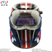 Red Warranty 2Years CE Approved Mig Dark Glass Welding Mask Confortable Sweatband Auto Darkening Sheild Helmet TRQ-KD04-2233FF