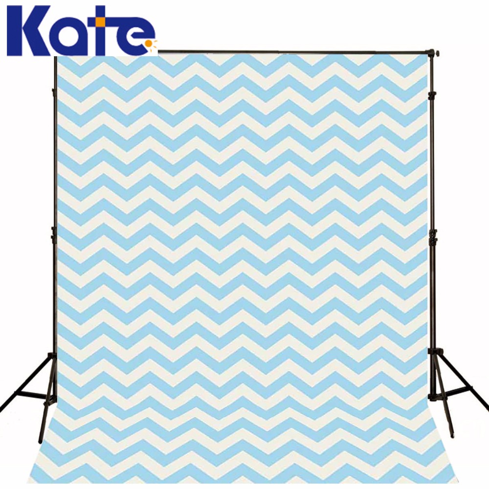 Kate Photo Background Pure Color Backdrop  Blue Chevron Background Newborn Photo for Children Photography Shoot Studio<br>