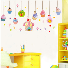 1pcs Cupcake Dessert Wall Decals Stickers Hall Dinning Room Kitchen Poster Cake Shop Window Decor Mural House Home Accessories