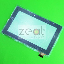 "10pcs/Lot Replacement 7"" Touch Screen Digitizer Glass For Freelander Tablet PC PD10 PD20 15.5MM FLEX"