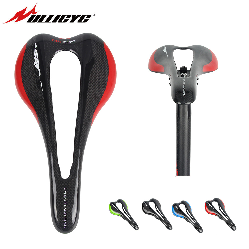 ULLICYC Brand  Bow Road Bike Mountain Road Bicycle Saddle 3K Carbon Matte Black Selle Itali   Carbon Saddle Free Shipping <br>