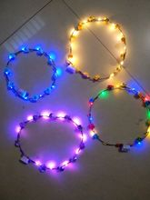 Direct Led emission band snuff ring head hair ring Lei scenic street vendor selling(China)