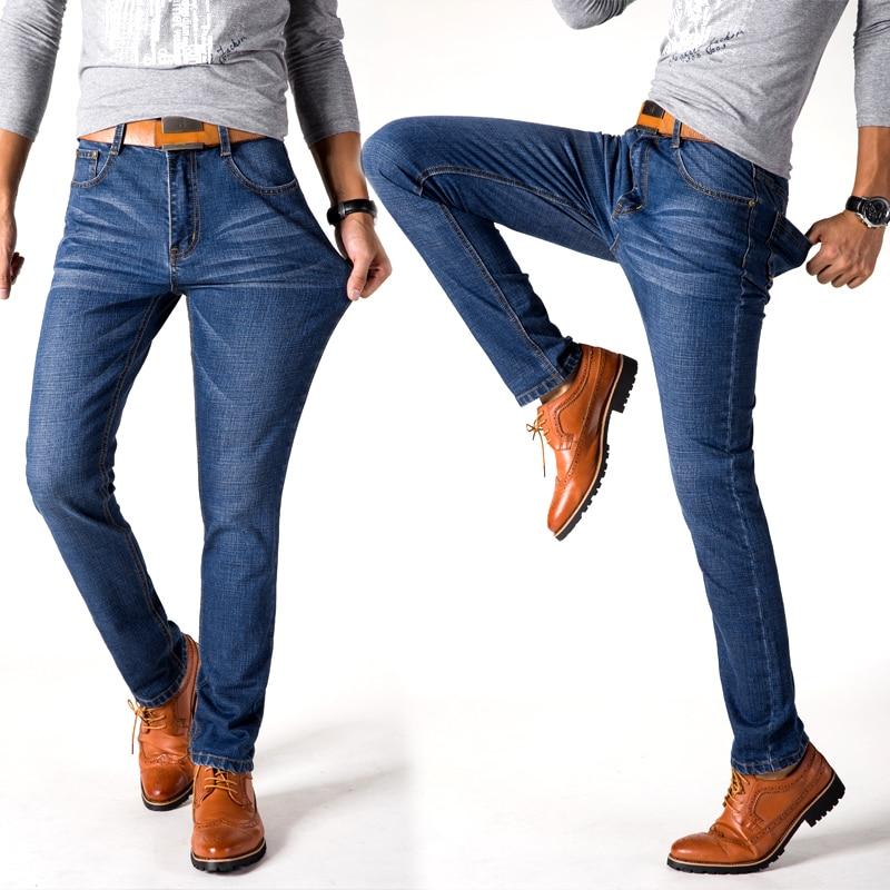 NIANJEEP Brand Jeans Men Jeans Autumn Large Plus Size Designer Cotton  Stretchy Pants Trousers Blue Denim Brand Mens JeansОдежда и ак�е��уары<br><br><br>Aliexpress
