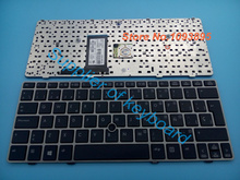 New Spanish/Latin keyboard FOR HP Elitebook 2560 2560p 2570 2570P laptop Spanish keyboard with Silver Frame