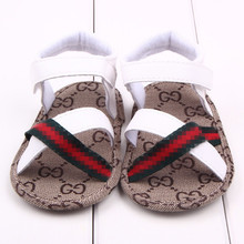 Lovely 1pair Baby Sandals summer antiskid Boy First Walkers,Cheap Soft Shoes,Brand toddlers/Newborn Prewalker(China)