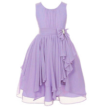 13 colors coral white yellow red purple flower wedding party evening dress girls lavender dress lots(China)