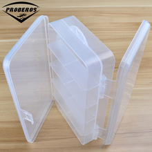 New Transparent Plastic Fishing Tackle Box Multifunctional Fishing Lure Hooks Spoons Storage Box Fishing Accessaries
