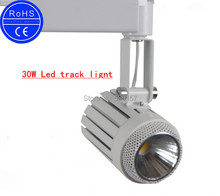 Wholesale  led cob track light high power 30w WarmCold White led track light multi-purpose led track lamp AC85-260V