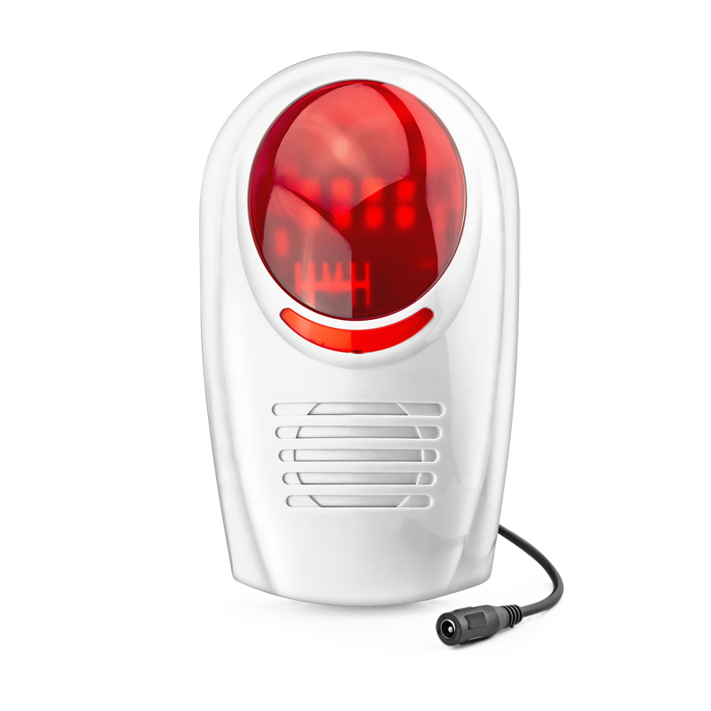 Wireless Flash Strobe Outdoor Siren Red Light 100dB Work with our alarm system<br>