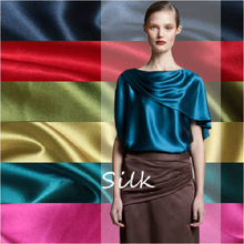 Satin Fabric Dress Silk Wedding-Decoration Stock-Colors Polyester 150cm Width for Curtain