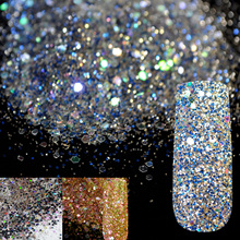 Dazzling Abalone Transparents Sequins Dust DIY Nail Glitter Decorations Nail Art Designs Blue Acrylic UV Mix Glitter Powder