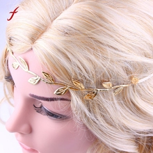 Bronzing Leaves Women Headband Elastics For Girl Hair Head Band band headbands accessories for women hair bands hairband headwea