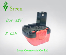 3000mAh 12V NI-MH Rechargeable Power Tool Battery Replacement for Bosch BAT139 BAT043 BAT045 BAT046 BAT049 BAT120 GSR12 PSR12(China)
