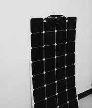 Powerful 100w solar semi-flexible battery panels, the use of high conversion efficiency of the US single crystal silicon cell