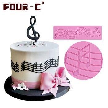 Hot music silicone mat cake silicone lace mold fondant cake decorating tools wedding cake border decorating mat free shipping