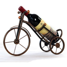 Continental creative wine racks home decor Red Wine bottle Holder Iron Wine Shelf Party Wedding Wine Holders Classic Iron Crafts(China)