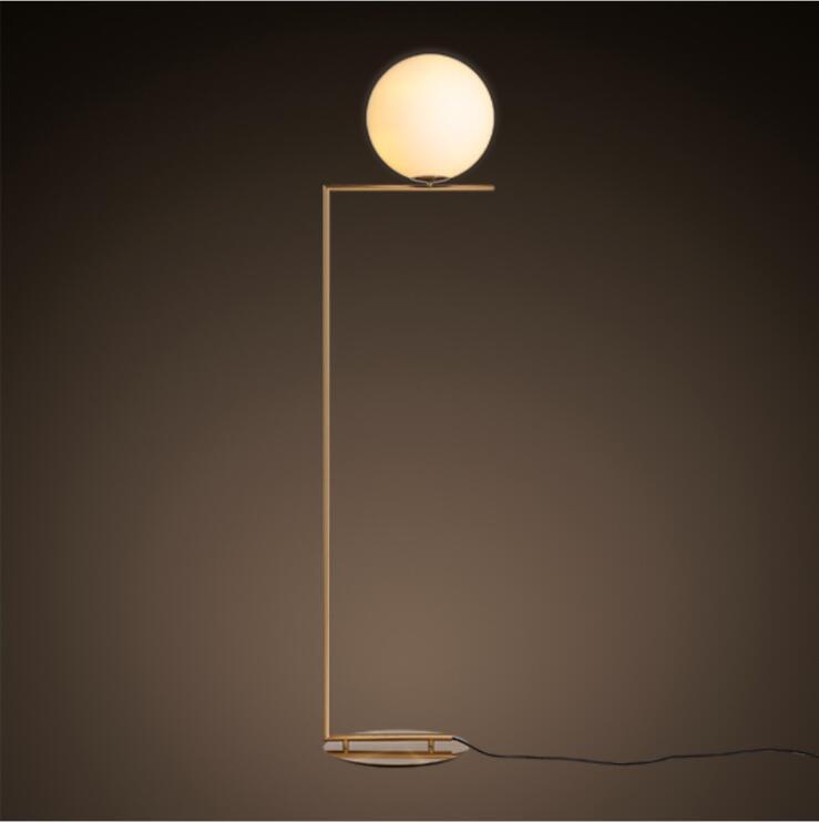 Modern LED Floor Lamp Floor Light Shade Glass Ball Standing Lamp for Bedroom Living Room Gold Designs (9)