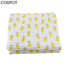 COSPOT 2017 Newborn Blanket Infant 6 Layers Gauze Bath Towel Boys Girls Swaddle Blankets Baby 100%Cotton Hold Wraps 2Pcs/Lot 15F