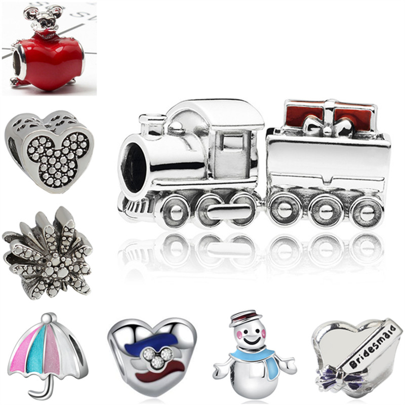 Radiant Hearts Warm Cocoa Fireworks Christmas Charm Bead Fit Pandora Bracelet Bangle Authentic 925 Sterling Silve Jewelry Professional Design Beads