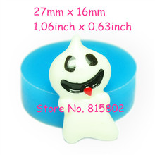 Free Shipping JYL176U Funny Ghost Silicone Mold Cake Decorating Food Safe Gum Paste Soap Cabochon Nougat Wax Moulds 27mm