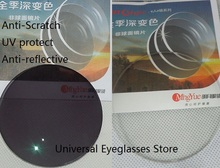 top quality Mingyue  1.61 photochromic lenses,UV protect,Grey in sunshine, clear in house,anti reflective,anti scratch