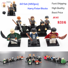 60set Compatible Ship By DHL Harry Potter Models Figures Bricks Toys Lord Voldemort Malfoy Professor Snape Ron Building Blocks